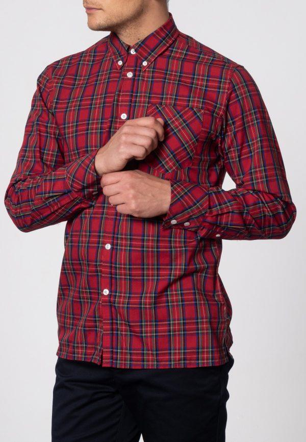 Merc Neddy Tartan Stewart Rød Skjorte – Off Carnaby